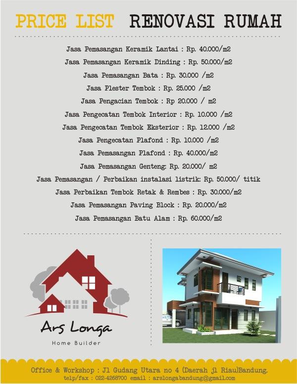 harga renovasi rumah Bandung